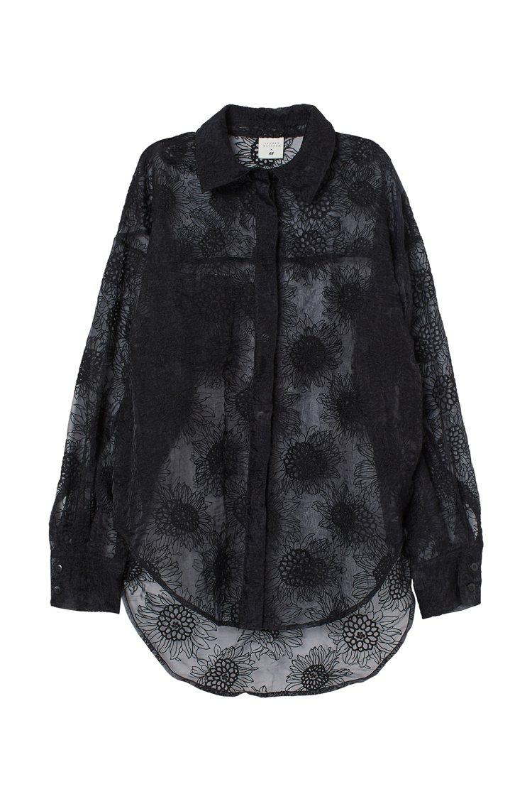 H&M與Sandra Mansour聯名系列罩衫1,499元。