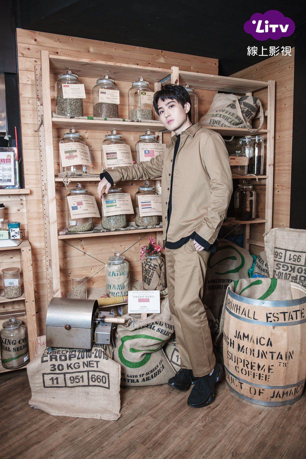 勵政達在「女力報到-正好愛上你」戲中飾演咖啡店店長。圖/LiTV線上影視提供