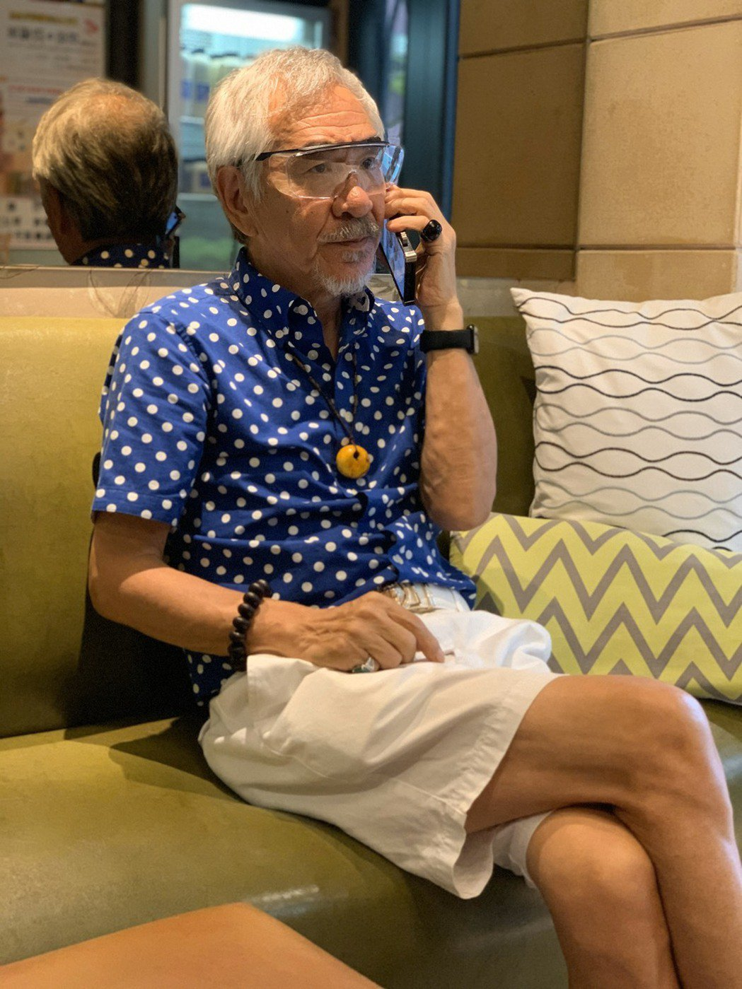 孫情在台朋友多,每次返台電話接不完。記者陳慧貞/攝影