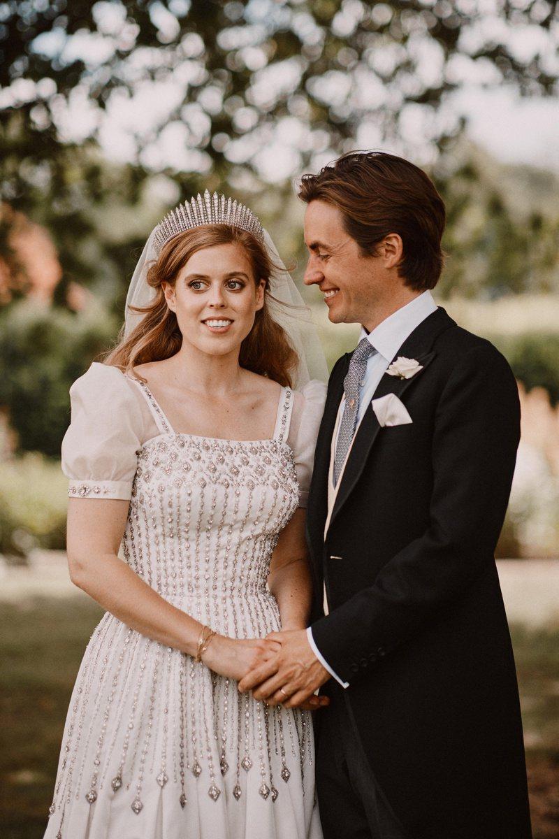 碧翠絲公主出嫁,臉上並沒有委屈與不悅。圖/路透資料照片