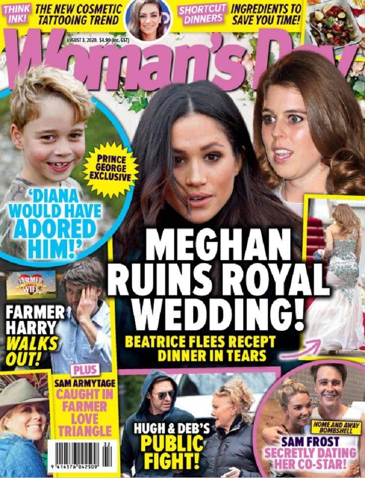 梅根被指毀掉碧翠絲公主的婚禮。圖/摘自Woman's Day