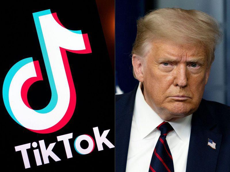 川普總統以國安為由,即將宣布總部在北京「字節跳動」抖音海外版TikTok在美禁用。 法新社