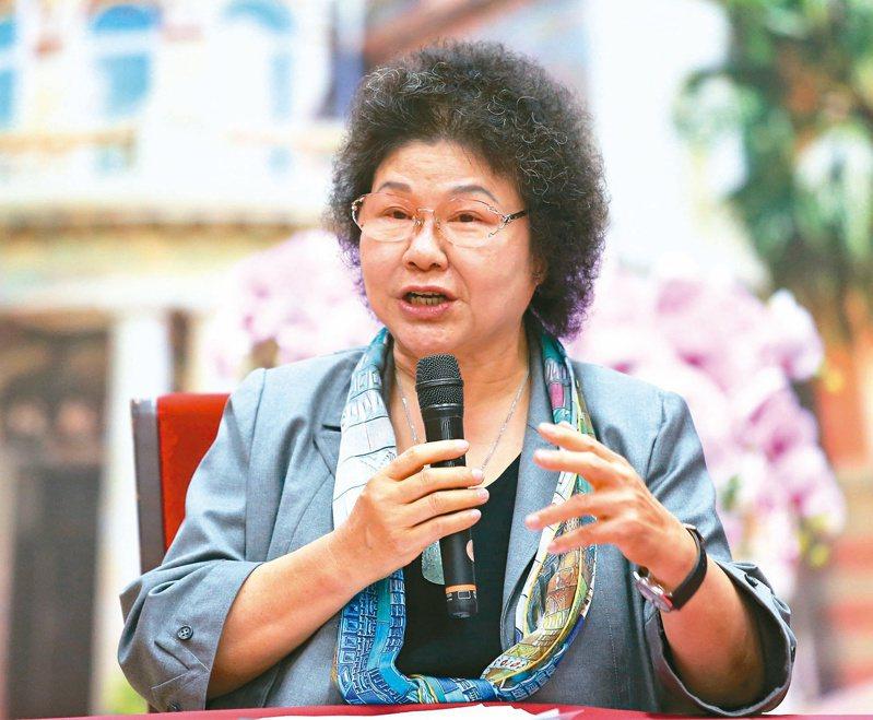 監察院長陳菊昨上任,對於在野黨質疑監委人事違憲,陳菊說,可惜立院沒給她機會接受檢驗。記者林澔一/攝影