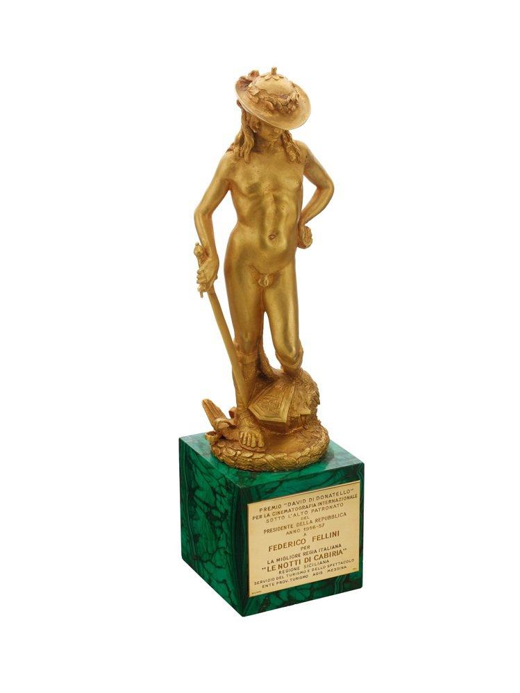 義大利電影金像獎David di Donatello,創作於西元1956年。圖/...