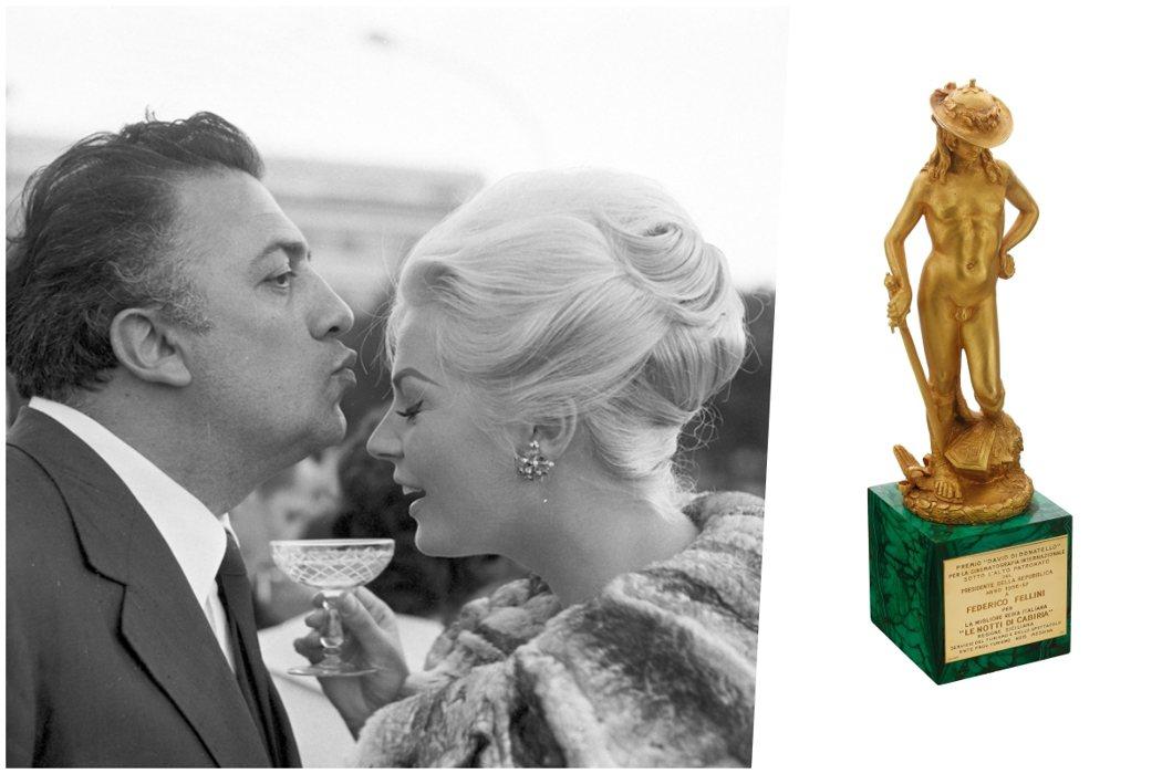 2020 金馬經典影展:費里尼100展出寶格麗義大利電影金像獎最佳導演獎座。圖/...