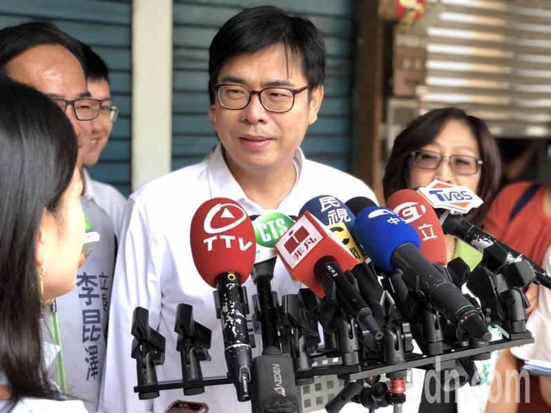 民進黨高雄市長補選參選人陳其邁。聯合報記者王慧瑛/攝影