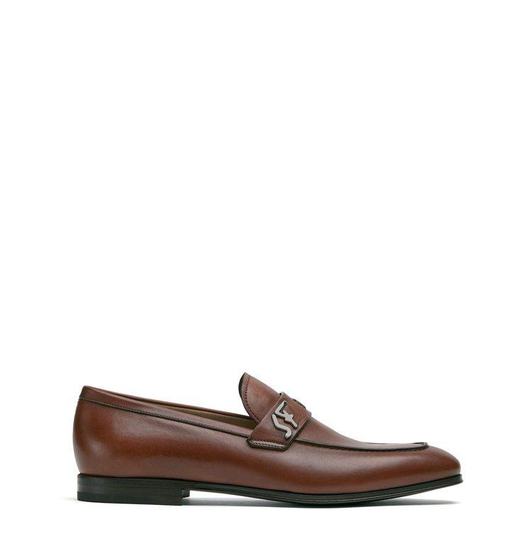 RIBEN棕色牛皮皮鞋,26,900元。圖/Salvatore Ferragam...