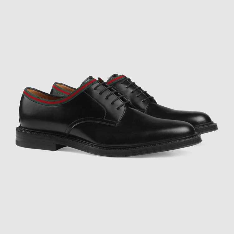皮革繫帶鞋,價格店洽。圖/GUCCI提供