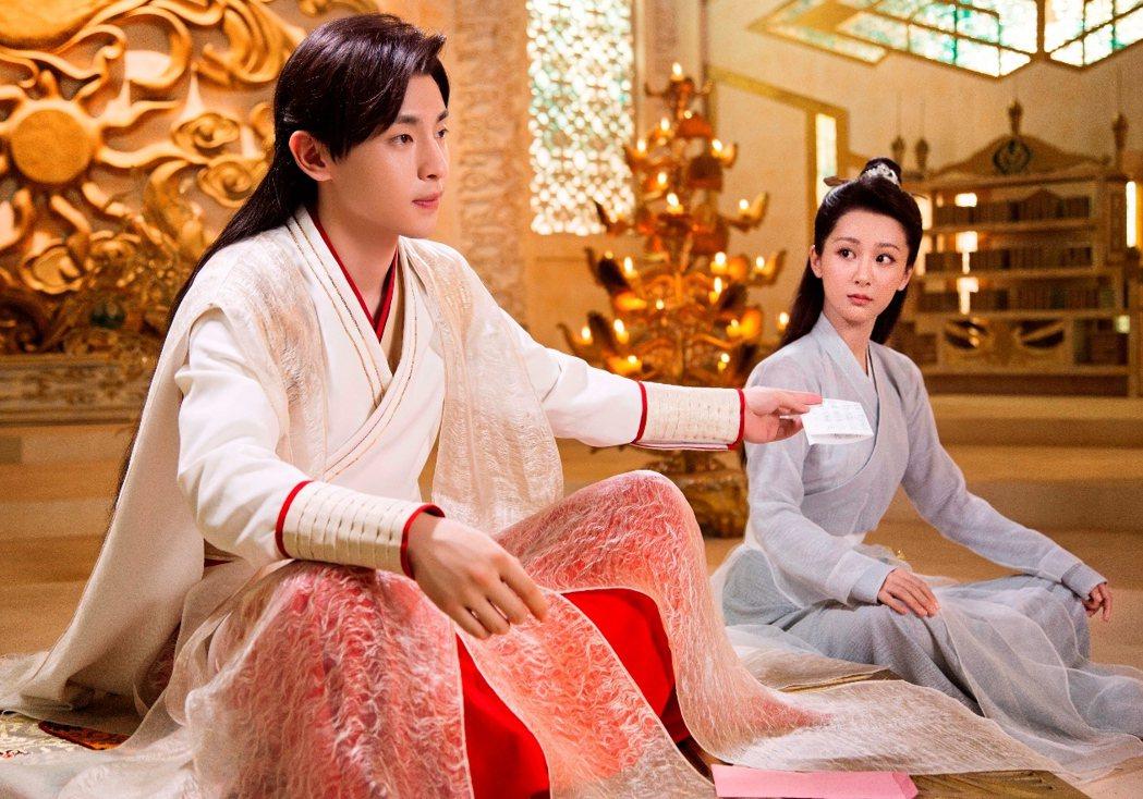 鄧倫(左)、楊紫主演「香蜜沉沉燼如霜」。圖/中視提供