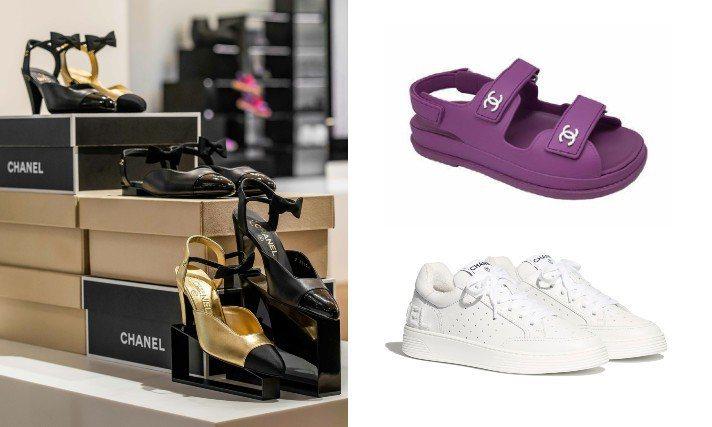 全球第一家香奈兒鞋履限時專賣店販售品項齊全的鞋款系列。圖/香奈兒提供