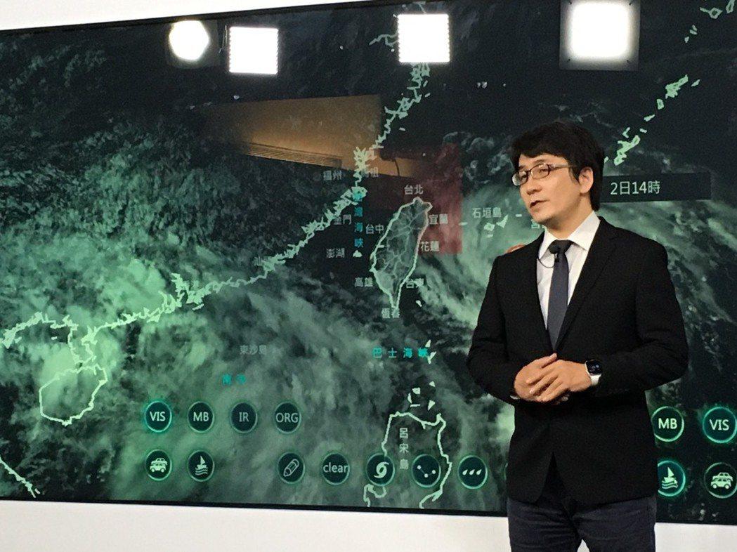 氣象局預報員徐仲毅。記者吳姿賢/攝影