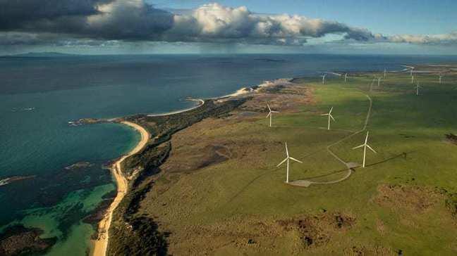 塔斯馬尼亞省的風電設施。網路圖片