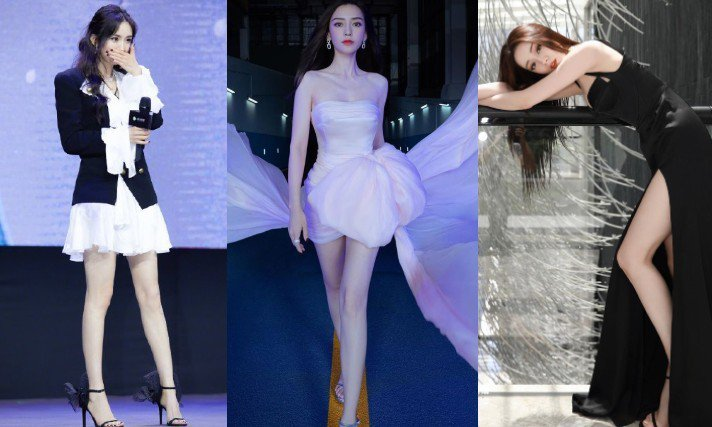 炎熱夏天女星偏愛細繫帶款式高跟涼鞋,每個都變身超辣「腿精」。圖/摘自微博