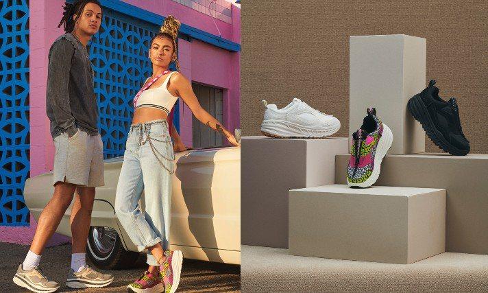 UGG早秋推出CA805拉鍊運動鞋,把西海岸的熱情、輕鬆愜意融入設計。圖/UGG...