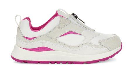 兒童款CA805拉鍊運動鞋(白),3,800元。圖/UGG提供