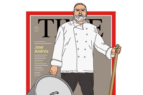 José Andrés霸氣登上⟪時代週刊⟫特別號封面人物  圖/英語島編輯室
