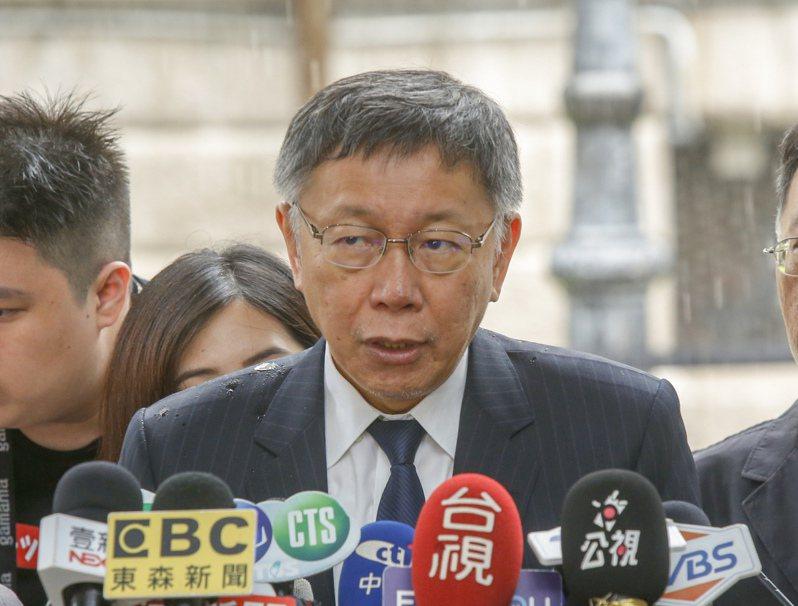 故總統李登輝的追思會場設在台北賓館第三天,上午台北市長柯文哲前往弔唁。記者鄭超文/攝影