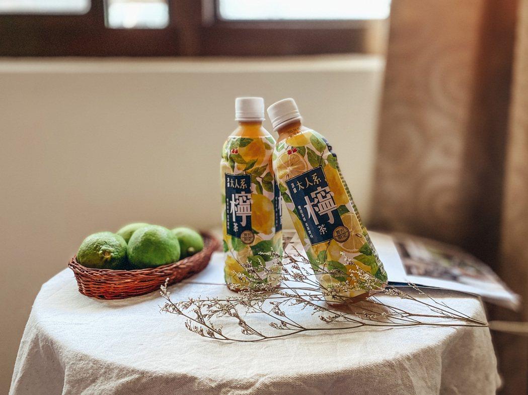 「大人系檸檬紅茶」即日起在7-11獨家上市。業者/提供