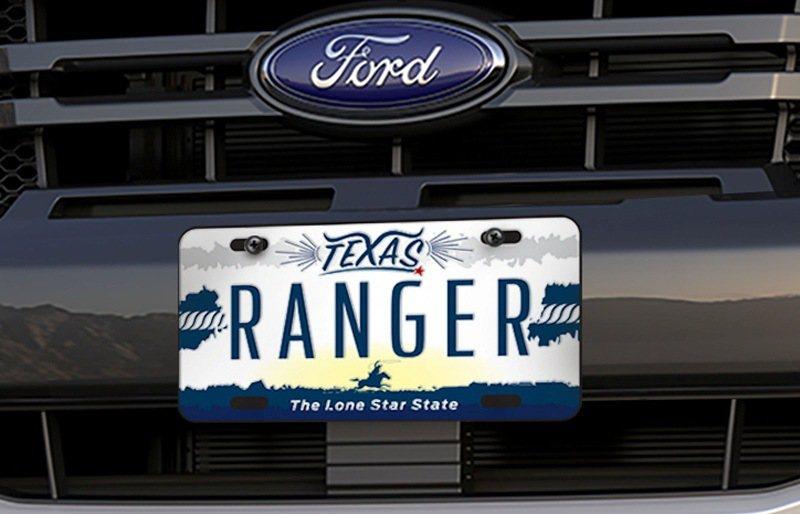 Ford Ranger Texas Edition德州騎兵版之德州騎兵紀念車牌。...