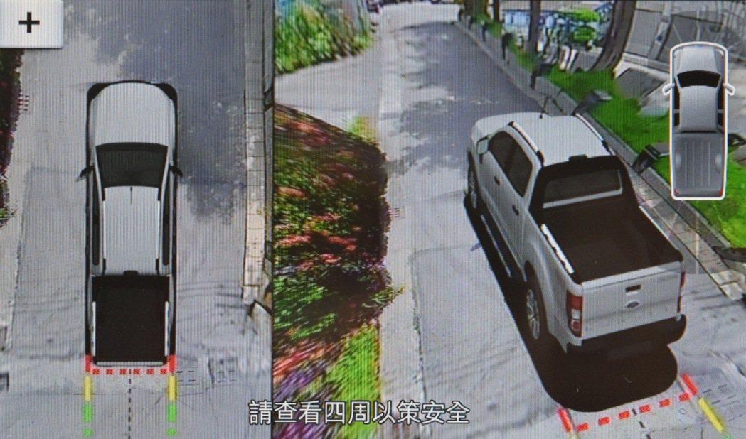 Ford Ranger 運動型進化搭載全新360°環景影像行車輔助系統,提供駕駛...