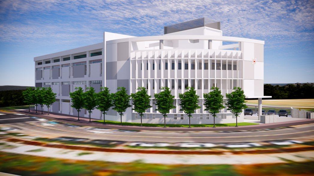 桃園材料實驗室完工模擬圖。 台灣建築中心/提供