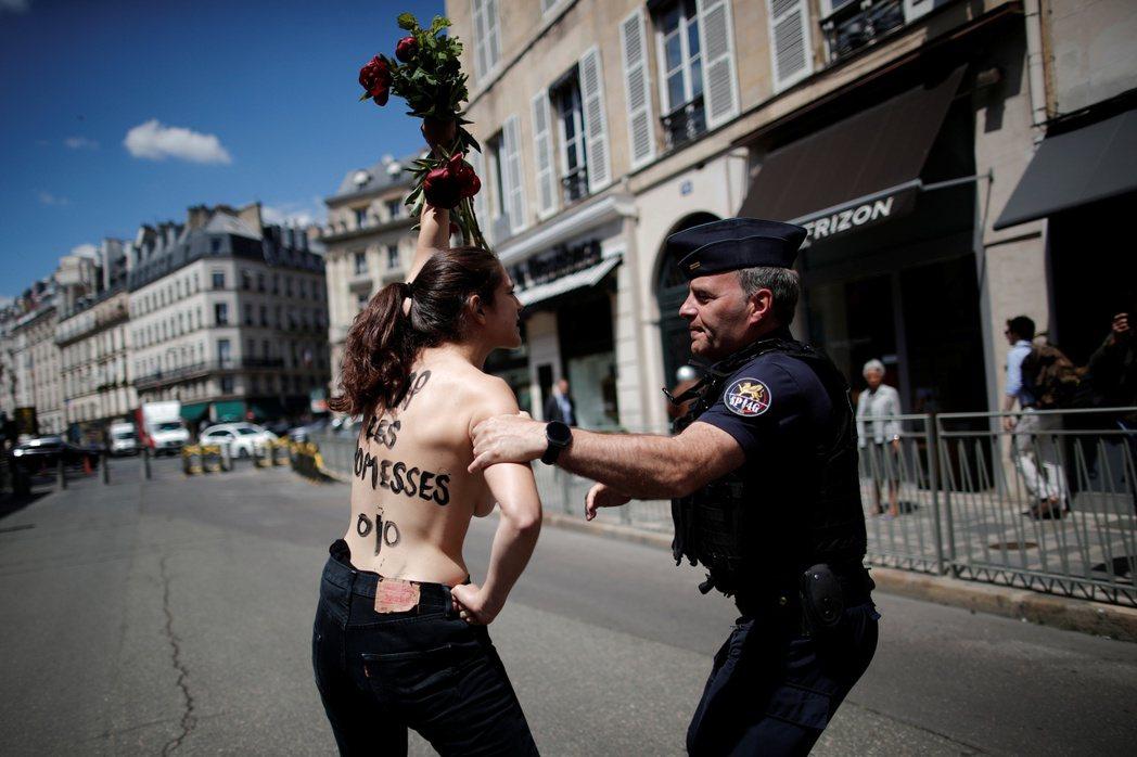 迪蓬–莫雷蒂被認為是 MeToo 運動的批評者。圖為法國新任內閣在7月初的第一次...