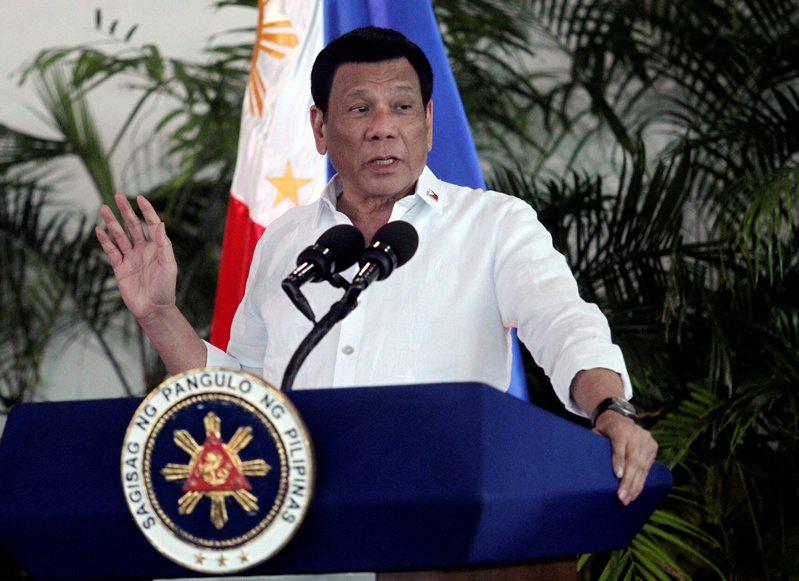 菲律賓總統杜特蒂。 路透
