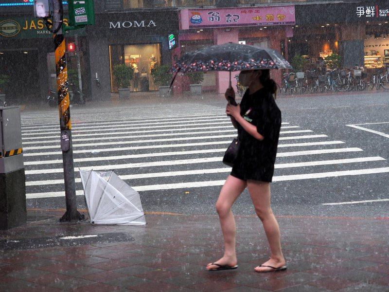 中度颱風哈格比今天影響台灣最劇烈。圖/歐新社