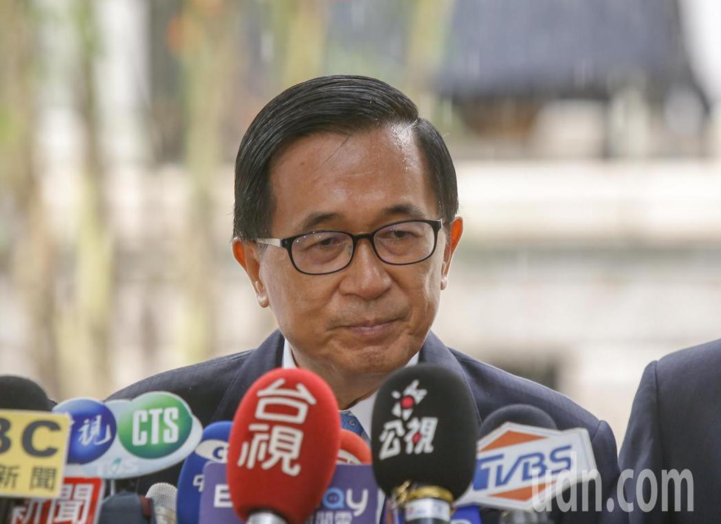 前總統陳水扁(圖)上午在前往台北賓館追思故總統李登輝。記者鄭超文/攝影