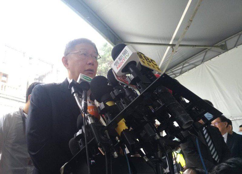 民眾黨主席柯文哲今天上午前往台北賓館弔唁前總統李登輝。記者林麗玉/攝影