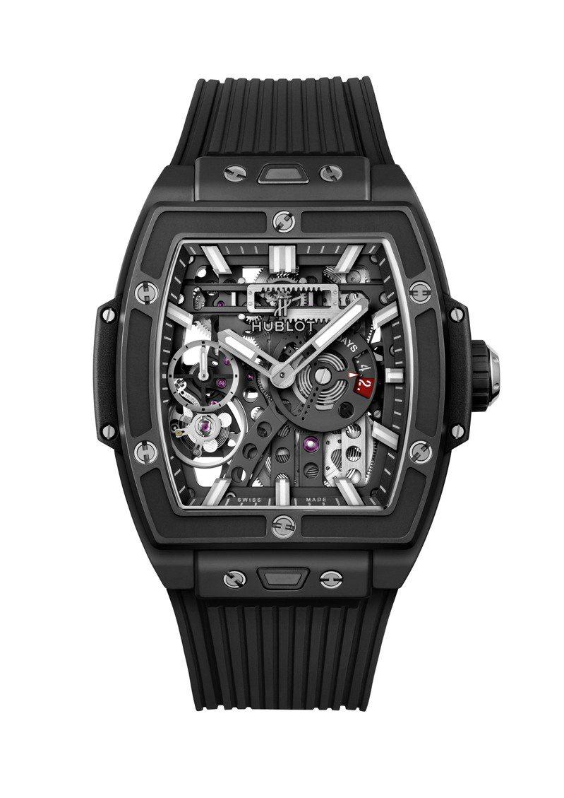 HUBLOT Spirit of Big Bang MECA-10腕表魔力黑款黑色陶瓷表殼,84萬7,000元。圖/宇舶表提供