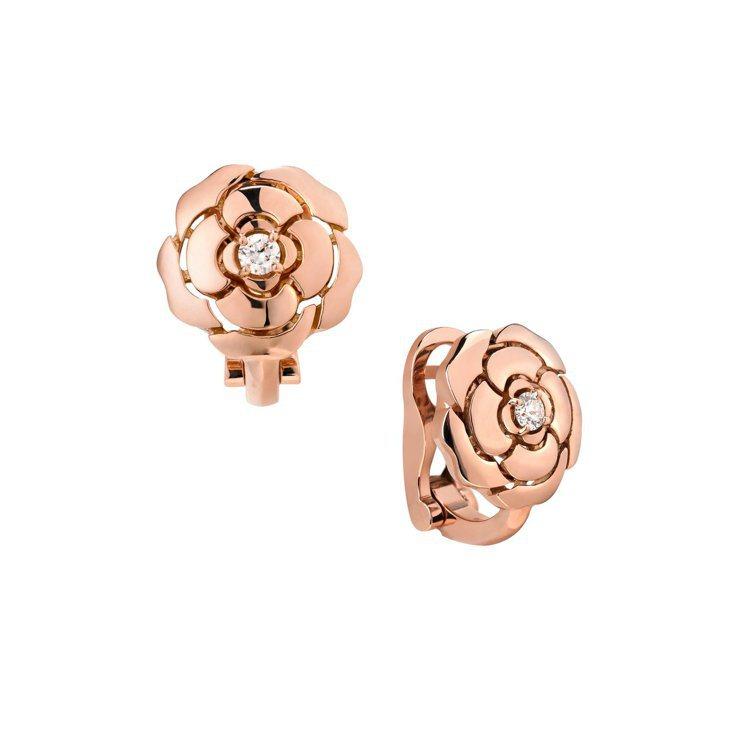 Bouton de Camélia耳環,15萬2,000元。圖/香奈兒提供