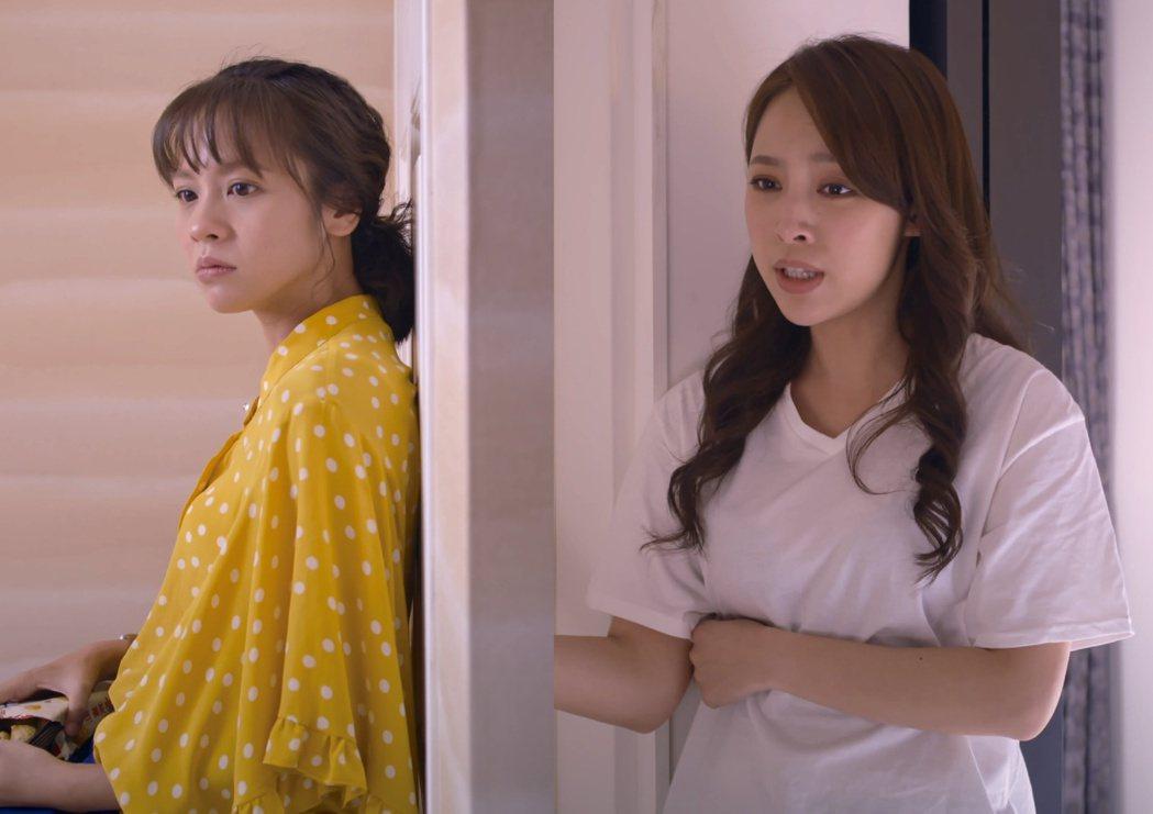 勇兔(右)把黃姵嘉關在房間不准她去珍賀齋。圖/公視提供