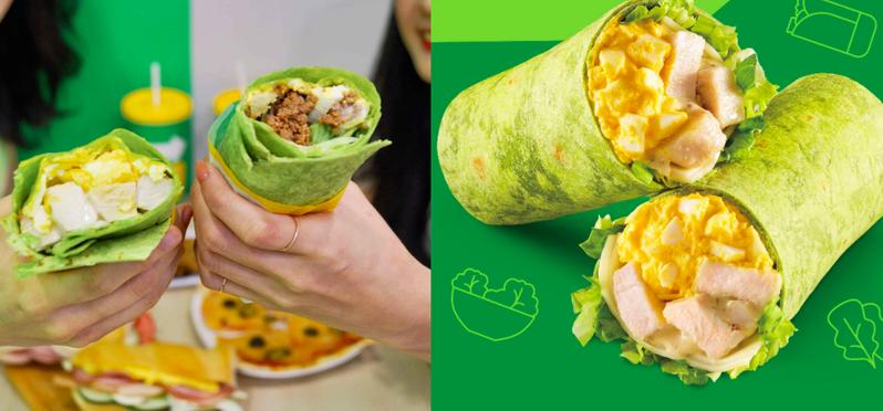 SUBWAY推出「菠菜捲系列」新口味,口感清爽又消暑。 圖/SUBWAY提供