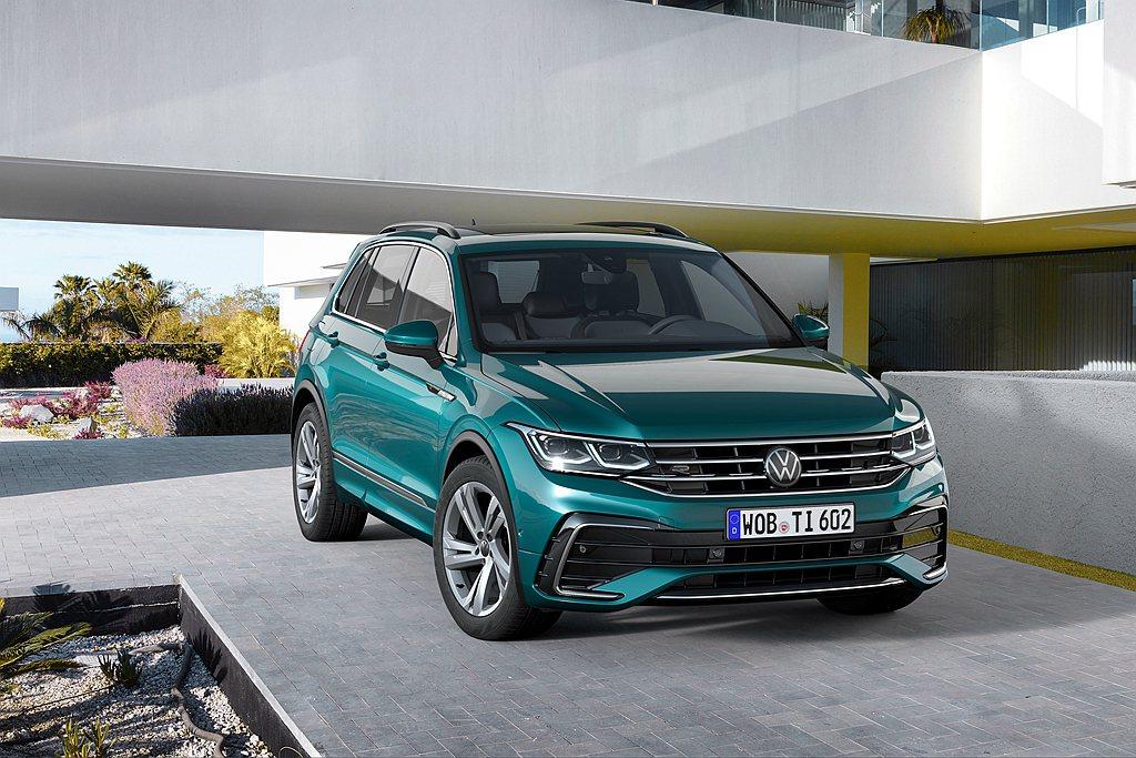小改款福斯Tiguan德國開放預購。 圖/Volkswagen提供
