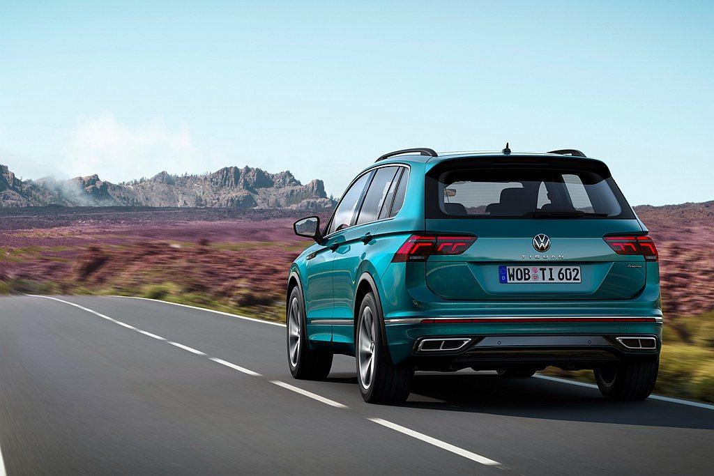 福斯汽車提到未來幾個月將會逐步推出其他小改款福斯Tiguan動力形式、變速系統與...