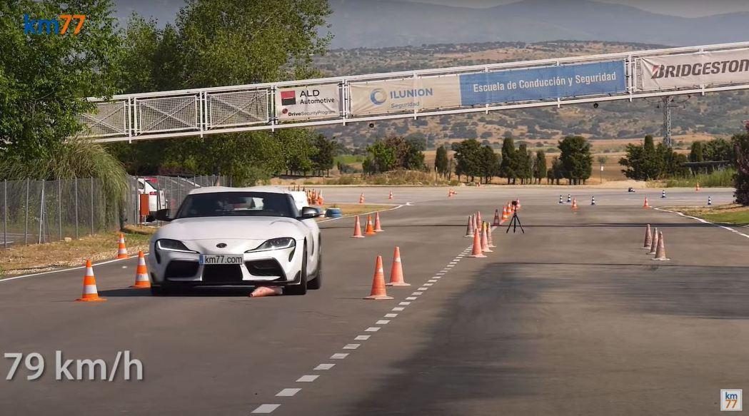 Supra車速提升至79km/h時就會碰到角椎。 摘自km77.com