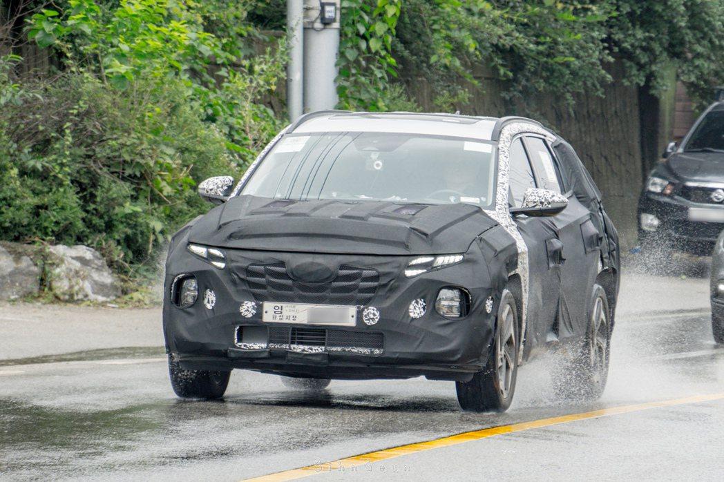 全新第四代Hyundai Tucson已進入最終測試階段。 摘自Autospy