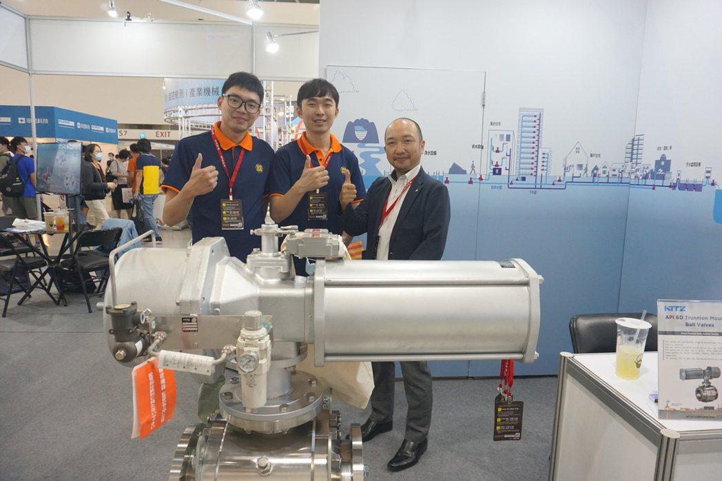 台灣北澤展出其新設備。 金萊萊/攝影