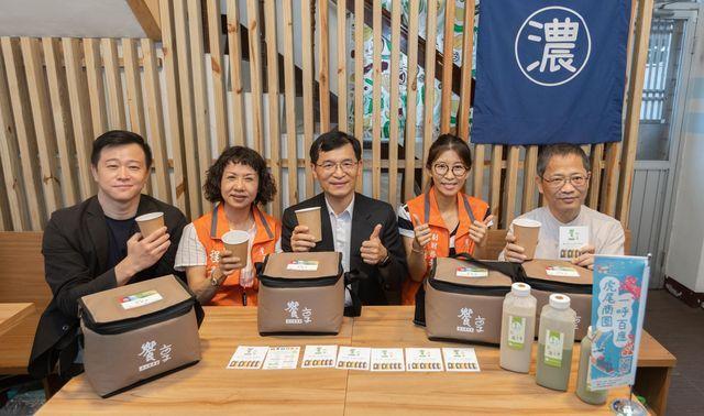 品嘗結合台灣在地食材,以不濾渣煮法研發出來的全食物營養濃豆漿。 中衛/提供