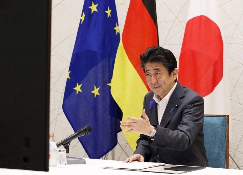 日本首相安倍晉三。 歐新社