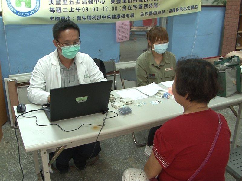 基隆長庚醫院在貢寮區唯一設置的美豐里巡迴醫療站,因服務民眾突然驟減,面臨取消的危機。 圖/觀天下有線電視提供