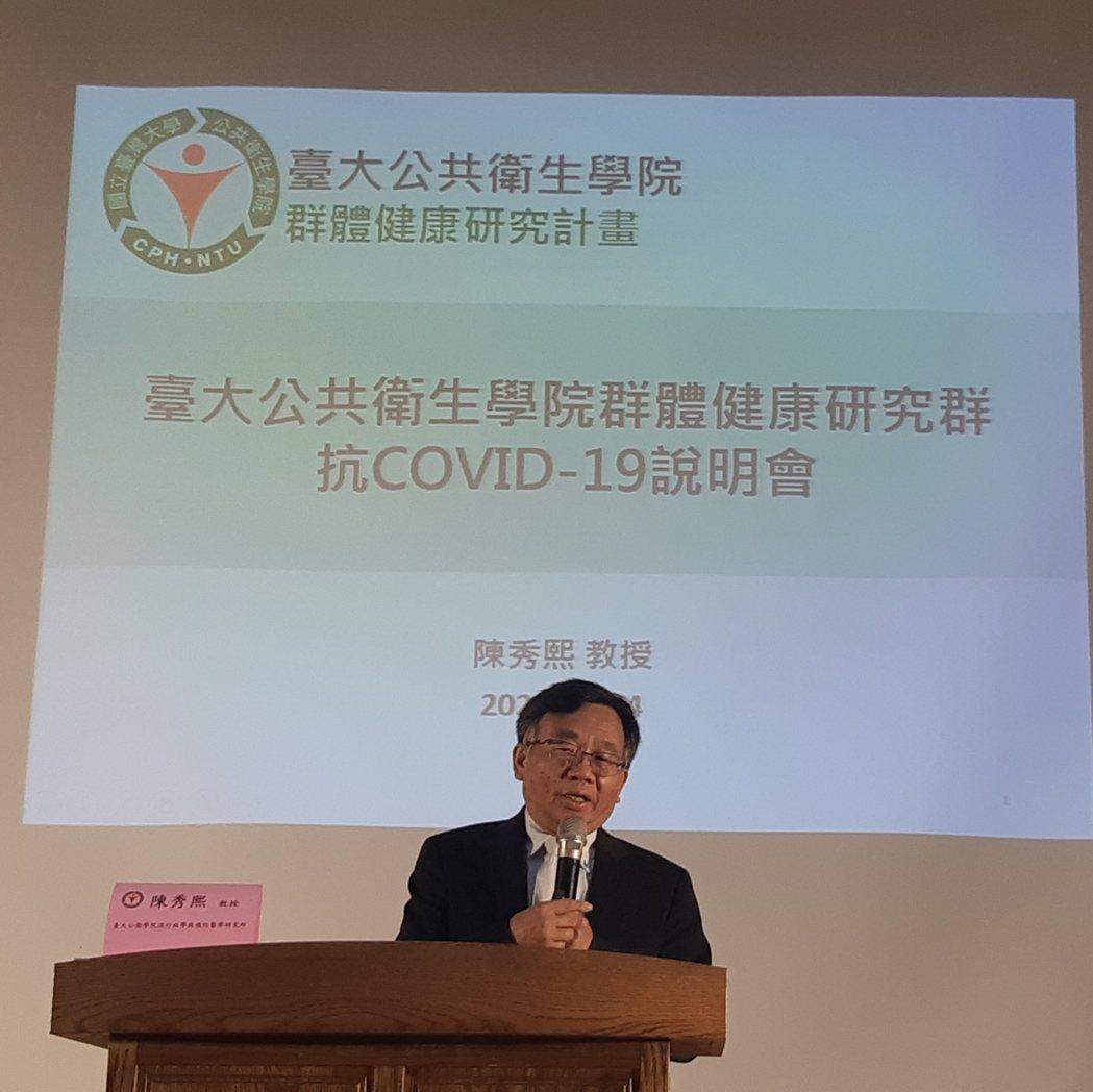 台大公共衛生學院教授陳秀熙。記者邱宜君/攝影
