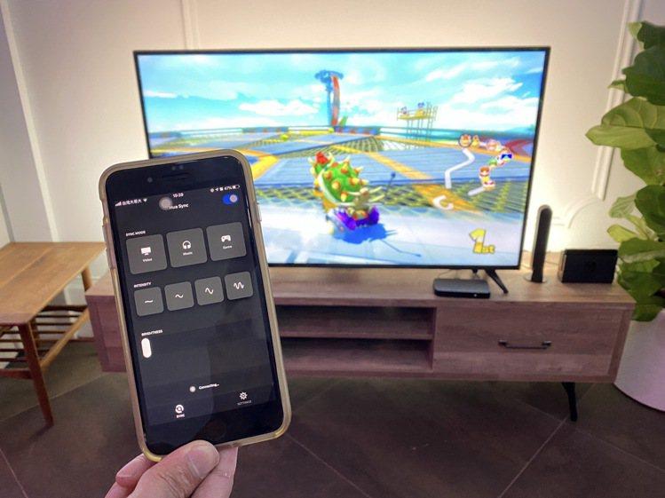 透過專屬App還能手動調整Hue Play燈條的亮度、同步頻率、同步模式等個人化...