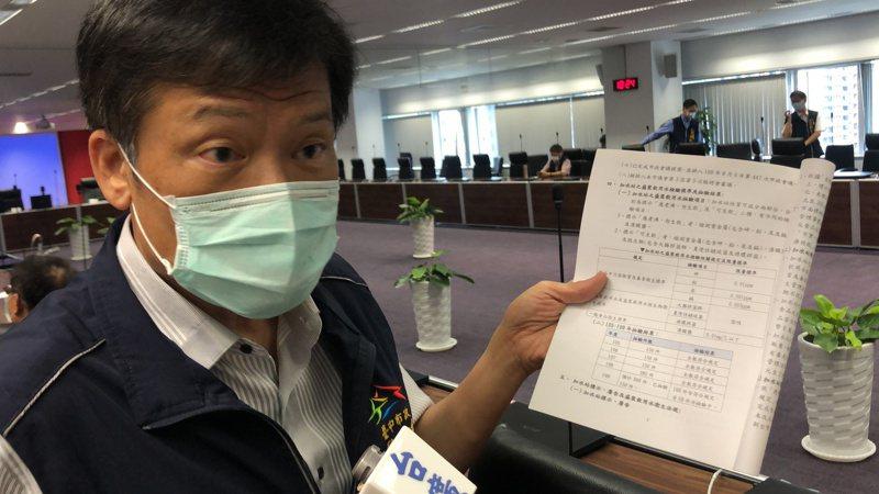 台中市衛生局長曾梓展表示,加水站越來越多必須加強管理。 記者陳秋雲/攝影