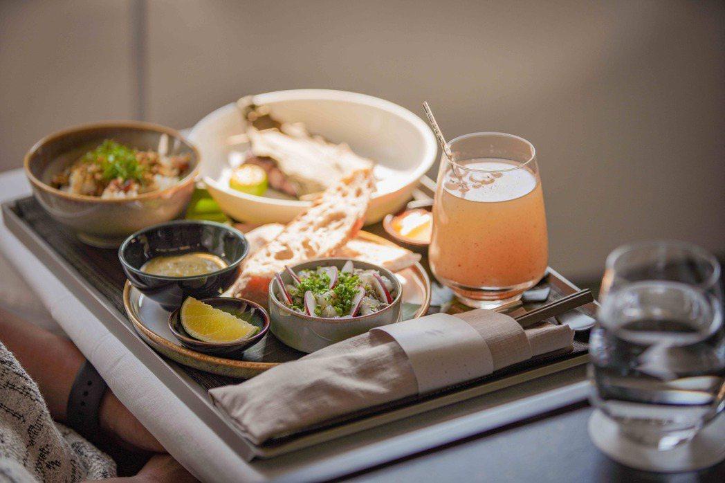 JX8888商務艙旅客可選擇米其林一星「Longtail」亞洲當代料理。圖/業者...