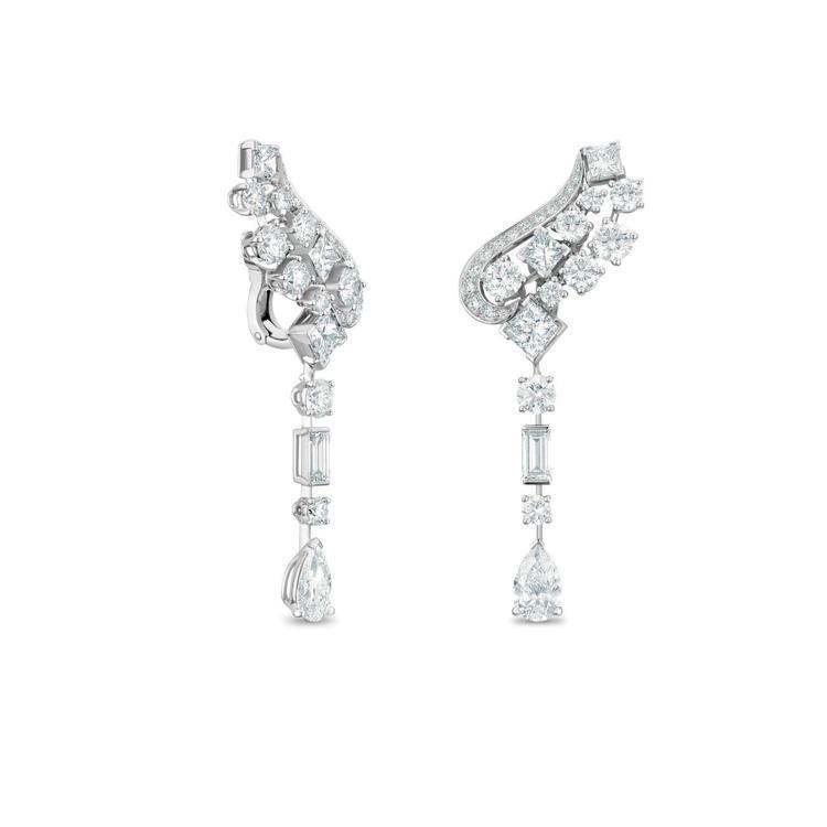 De Beers Phenomena Glacier高級珠寶鑽石耳環,價格店洽。...