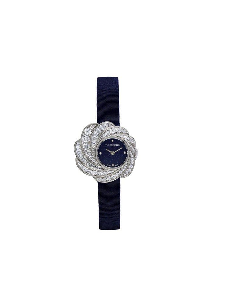 De Beers Aria砂金石鑽石腕表,價格店洽。圖/De Beers提供
