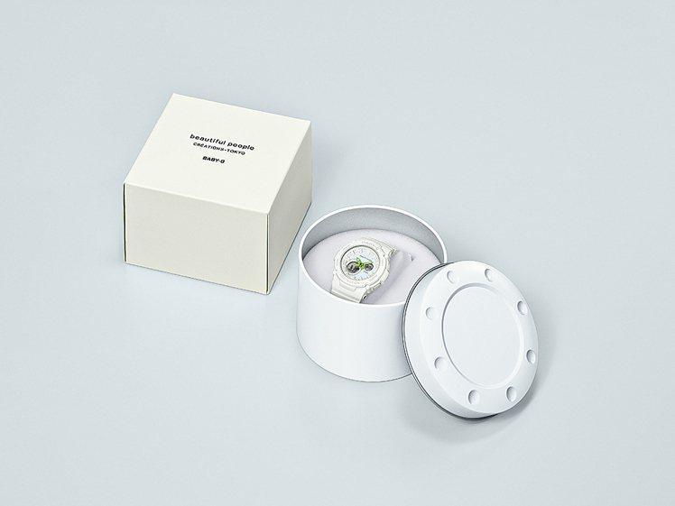 整體外包裝亦採用白色設計,從手表本身到包裝皆徹底傳達品牌精神。圖/Casio提供
