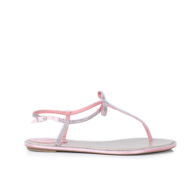Bonnie水鑽夾腳低跟涼鞋。圖/RENE CAOVILLA提供